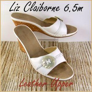 6.5M Liz Claiborne Tourista Sandals Wedge Vintage